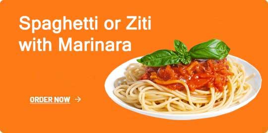 Spaghetti or Ziti with Marinara